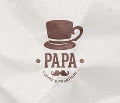 Papa Coffee & Furniture Logo by Dat Do