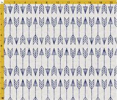 arrowhead_tribal fabric by holli_zollinger on Spoonflower - custom fabric Double Gauze Fabric, Cotton Twill Fabric, Fleece Fabric, Navy Fabric, Tribal Fabric, Spoonflower Fabric, Fabric Swatches, Home Textile, Custom Fabric