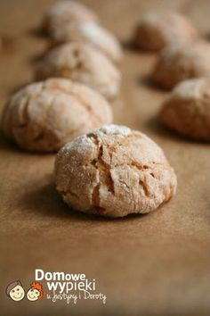 ciasteczka z orzechami Polish Recipes, New Recipes, Cake Recipes, Cooking Recipes, Polish Food, Avocado Hummus, Food Cakes, How To Make Bread, Holiday Cookies