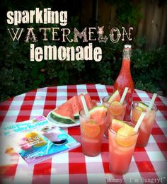 Sparkling Watermelon Lemonade - for moms and dads to drink
