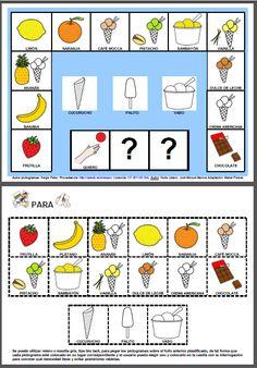 MATERIALES - Quiero un helado de... (adaptado a Argentina)  Tablero de comunicación para elegir el tipo de helado que deseamos tomar.  http://arasaac.org/materiales.php?id_material=1060