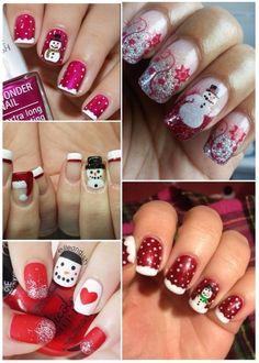 Christmas Nails, Papi, Diana, Beauty, Ideas, Hair And Beauty, Frases, Polish Nails, Snowman Nails