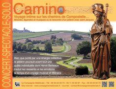 """La Compagnie médiévale. Concert-spectacle en solo. Hervé Berteaux. """"Camino"""", voyage intime sur les chemins de Saint Jacques de Compostelle."""