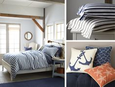Garnet Hill Modern French Nautical Bedroom Collection