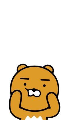 pinterest:pelin çalışkan Pastel Wallpaper, Wallpaper Backgrounds, Ryan Bear, Kakao Ryan, Create A Critter, Kakao Friends, Friends Wallpaper, Homescreen Wallpaper, Presents For Friends