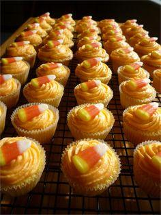 Crazy About Cakes: Mini Orange Cupcakes..... A Fun Fall Treat