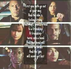 The bond will never be broke Furious Movie, The Furious, Fast And Furious, Vin Diesel, Michelle Rodriguez, Gal Gadot, Movies Showing, Movies And Tv Shows, See You Again Wiz