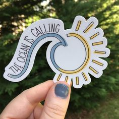 Hand lettering based out of Georgia by peachesNporchswings Surf Stickers, Bubble Stickers, Cool Stickers, Sticker Shop, Sticker Vinyl, Summer Wallpaper, Aesthetic Stickers, Doodle Art, Sticker Ideas
