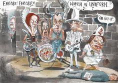 Women In Uniform, Rowe, Australian Financial Review | Political Cartoons Australia