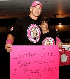 John Cena meeting with the Susan G. Komen Honorees.