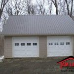 pole barn garage Take a peek at our world-wide-web site for a good deal more with regard to this eye-popping contemporary garage door Pole Barn Garage, Building A Pole Barn, Garage Shed, Building A House, Pole Barns, Garages, Contemporary Garage Doors, Garage Door Styles, Double Garage