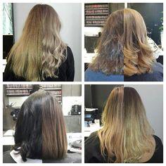 #beforeandafter #vorhernachher #rösener06 #reutlingen #friseurroesener #blond #braun #goldblond #hair #haare #frisur #braunehaare #bob #langehaare #longhair #shine #balayage #painting #strähnen #aschblond #hairdressing #lovehair @shereeknobelcolour @hairbyamylee @wellaeducation @chloeward_hair@lorealprode
