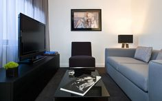 A view of a King Suite's private living area at Smyth TriBeCa in New York City