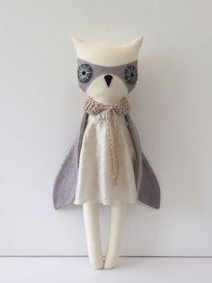 luckyjuju owly girl - owl lovie - doll