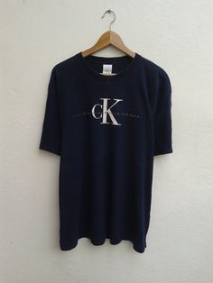 CALVIN KLEIN Jeans Chest Logo Graphic CK Streetwear Vintage 90s T-Shirt Size L by BubaGumpBudu on Etsy