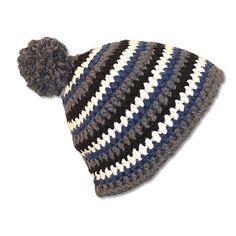 Easy Stripes Mützen Häkelmütze häkeln DIY Mode Mütze Beanie Handarbeit Mütze häkeln Textil Mode Mode für