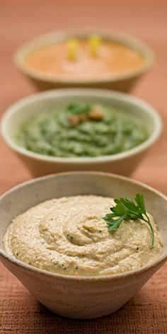 Creamy Hummus Dip Recipe from our friends at Daisy Sour Cream why have I never thought of that?! Could use Greek yogurt too