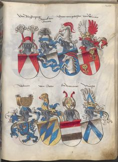 Grünenberg, Konrad: Das Wappenbuch Conrads von Grünenberg, Ritters und Bürgers zu Constanz um 1480 Cgm 145 Folio 290