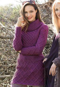Твидовый удлиненный свитер цвета фуксии