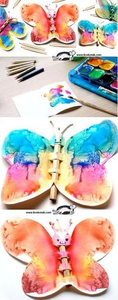 Pencil Crafts – Butterflies - a fun craft for our butterfly unit Projects For Kids, Diy For Kids, Craft Projects, Crafts For Kids, Preschool Crafts, Fun Crafts, Arts And Crafts, Spring Activities, Activities For Kids