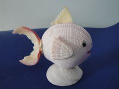 Sea Shell Seashell White Shell Fish Figurine door seashells11035, $7.50