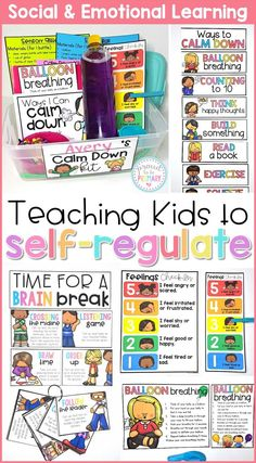 Teach children to self-regulate, manage their emotions, develop self-control and self-esteem, and mindfulness with this SEL resource. Children will make their own calm down kit and stress ball. Teachers will facilitate the class learning and practicing yo Emotional Regulation, Emotional Development, Behaviour Management, Classroom Management, Preschool Behavior Management, Self Management For Kids, Anger Management Activities For Kids, Calm Down Kit, Conscious Discipline