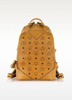 Cognac Duke Visetos New Small Backpack - MCM $690