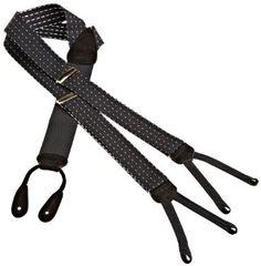 Trafalgar Men's Formal Pindot Suspender, Black, One Size Trafalgar. $58.00