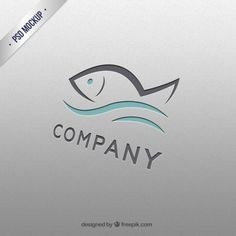 Logo mockup Vectors, Photos and PSD files Logo Psd, Typo Logo, Logo Foto, Sea Logo, Mock Up, Free Logo Templates, Fish Template, Resort Logo, Free Photoshop