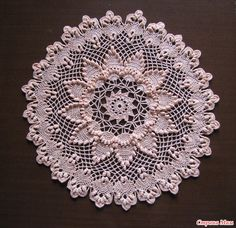 Beautiful crochet doilies by Ирина (IRSIcrochet) Free Crochet Doily Patterns, Crochet Coaster Pattern, Crochet Mandala, Crochet Art, Crochet Home, Thread Crochet, Crochet Motif, Vintage Crochet, Crochet Flowers