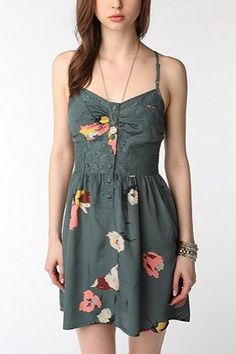 simple summer dress. could also be worn with a cardigan and maybe some black tights for a cute fall look