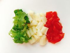 🇮🇹italy national flag. Food design.