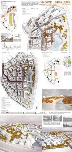 Student urban project: the masterplan for Siekierki district
