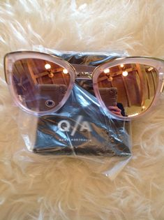22408e5dd8b7 🆕💕QUAY My Girl pink frosted lilac sunnies sunglasses mirror