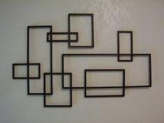 Mid Century Modern Wall Art mid century modern brutalist nail art wall hanging sculpture | art