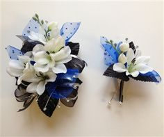 best corsage for royal blue dress - Google Search