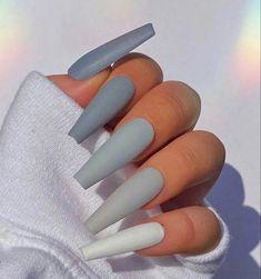 Cute Acrylic Nail Designs, Simple Acrylic Nails, Best Acrylic Nails, Nagellack Design, Acylic Nails, Fire Nails, Nagel Gel, Dream Nails, Stylish Nails
