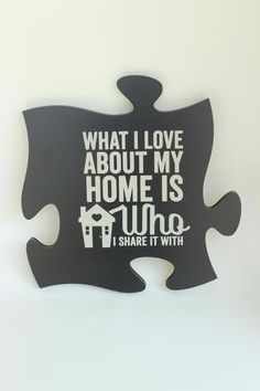 Loving this P. Graham Dunn 'Home' Puzzle Piece Wall Art on Home Decor Wall Art, Home Decor Furniture, Puzzles, Family Photo Frames, Picture Frames, Cool Wall Art, Puzzle Art, Wall Quotes, Wall Sayings