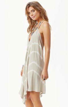 Blue Life Halter Scarf Dress - California Bohemian, Retro and Hippie Dresses