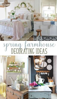 Use these ideas to help with your spring farmhouse decor this year.  Simple, fresh and budget friendly ideas to bring life into your home decor this spring!