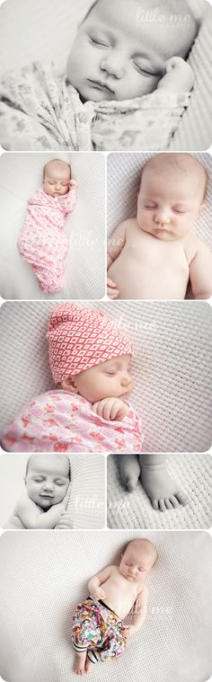 Love the grey and pink theme of these new born photos