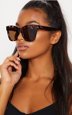 c5a8febde429 QUAY AUSTRALIA Brown After Hours Oversized Sunglasses