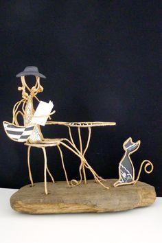 La Parisienne - figurine en ficelle et papier