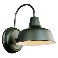 Design House Mason RLM Wall Mount Outdoor Oil Rubbed Bronze Dark-Sky Downlight-519504 - The Home Depot