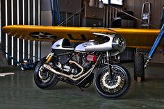 """Yamaha Cafe Racer """"Silver Eagle"""" LuckyMotos Bulle #motorcycles #caferacer #motos   caferacerpasion.com"""