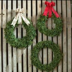 Fresh boxwood wreaths are now available for the 2016 holiday season.