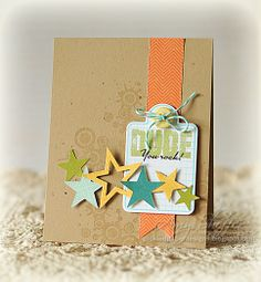 homemade birthday cards for boys | Pickled Paper Designs: Dude, You Rock!