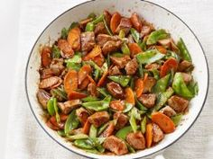 Sweet and Sour Pork : Forget takeout — you can cook this sweet and sour stir-fry in just 10 minutes. For super-fast weeknight prep, cut up the ingredients the night before.