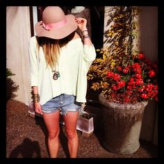 I love the outfit and hat but I love this picture idea