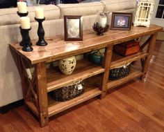 Rustic X Console | Do It Yourself Home Projects from Ana White